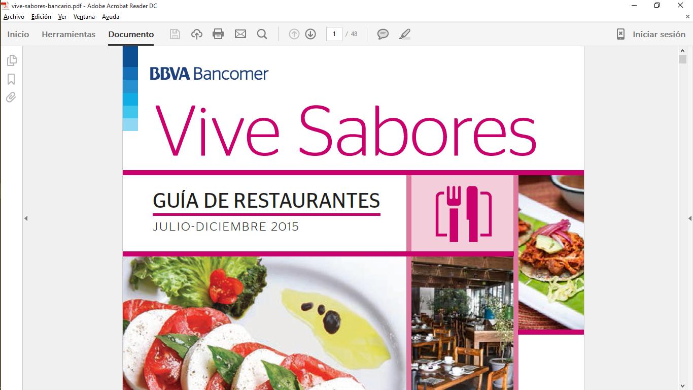 Bancomer: restaurantes con 15% de descuento todos los días