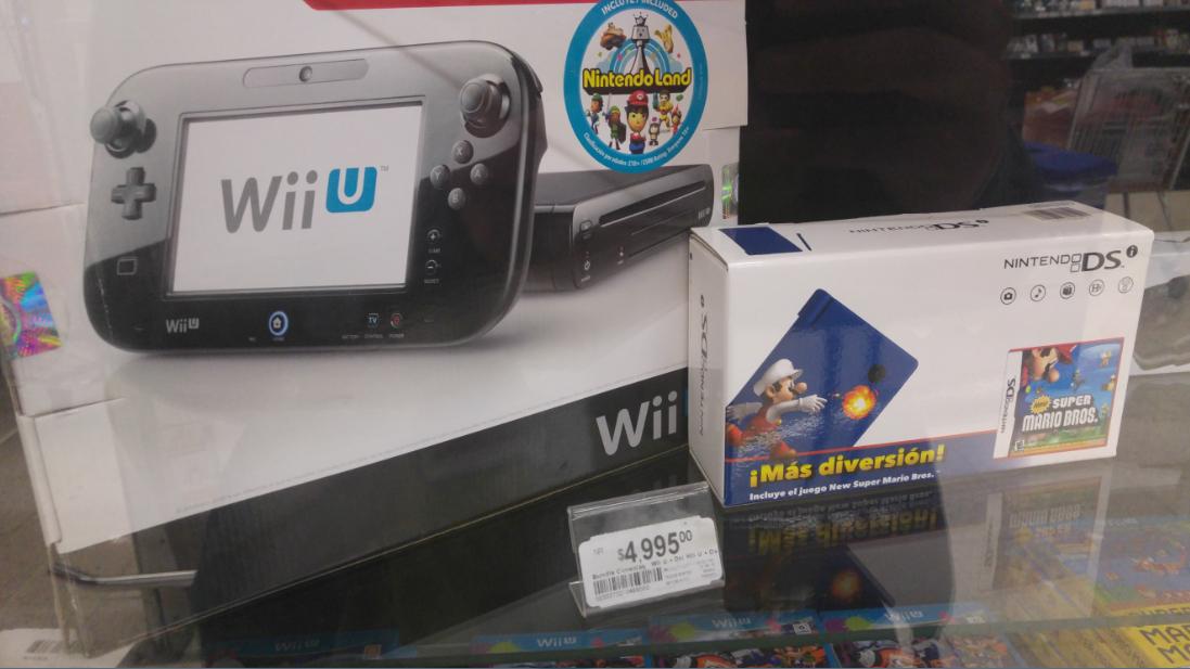 Chedraui: Wii U refurbished+ Nintendo DSi a $4,995 o $4,500 con cupón