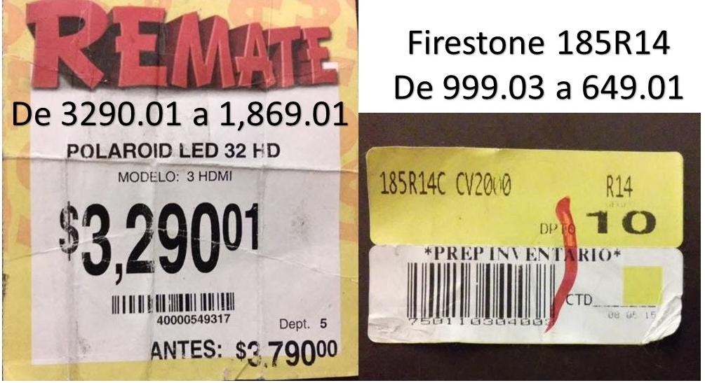 """Bodega Aurrerá: Polaroid Led TV 32"""" a $1,869.01 y llanta Firestone 185R14 a $649.01"""