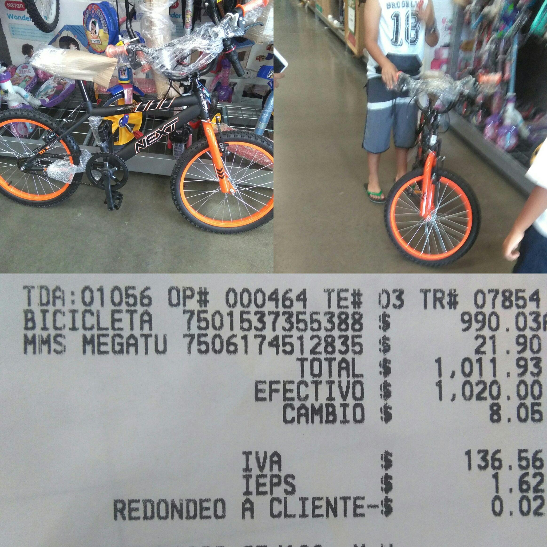 Bodega Aurrera: Bicicleta Next rodada 20 bodega aurrerá $990.03