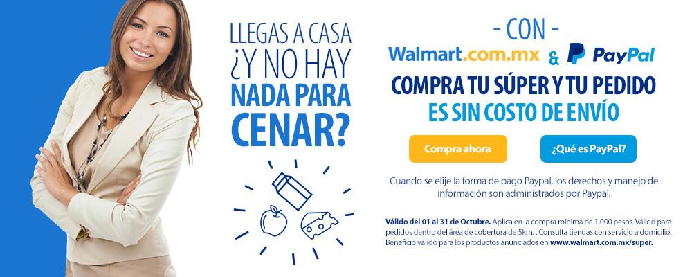 Walmart super (online) Envío gratis pagando con Paypal