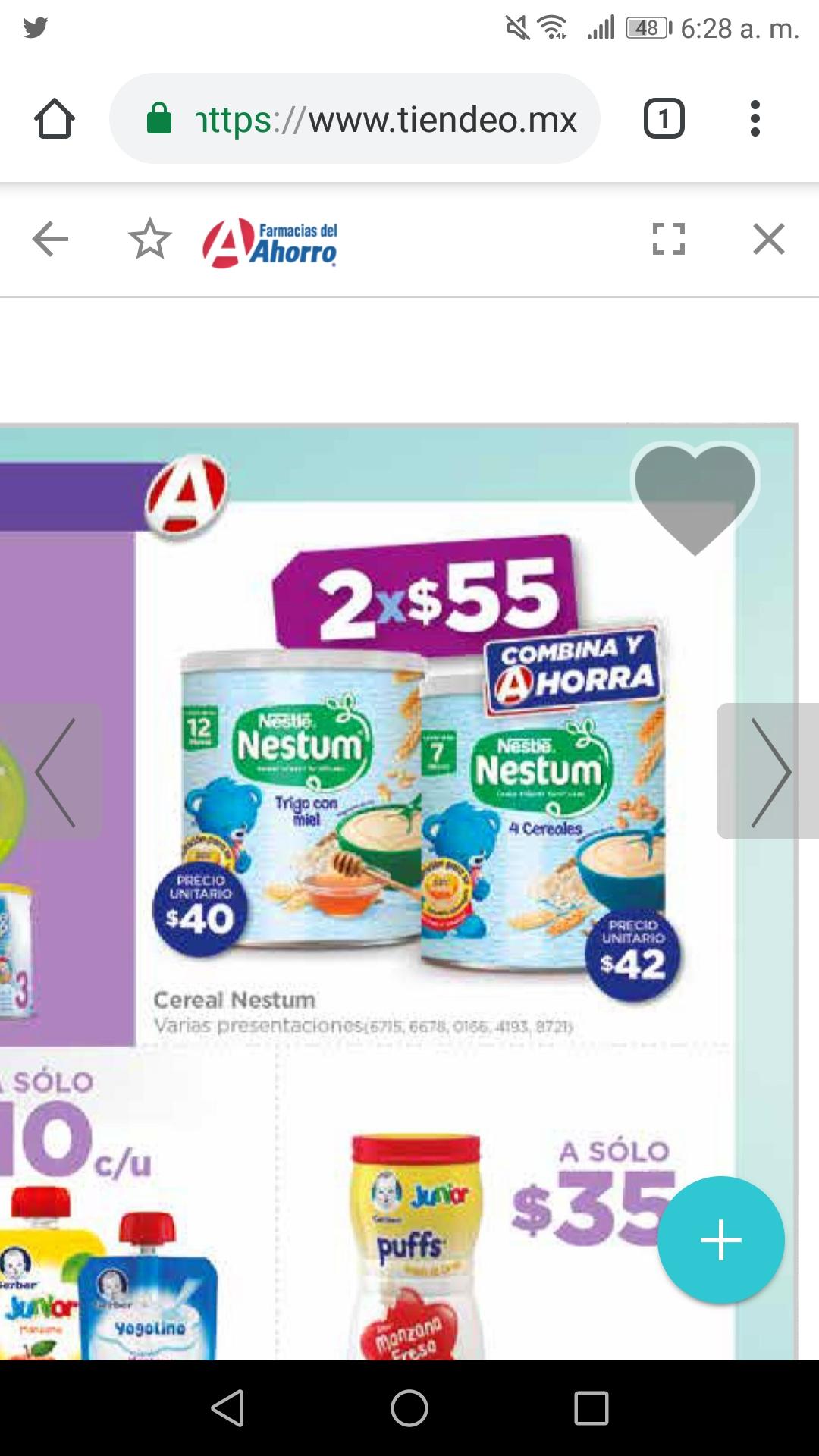 Farmacias del Ahorro: 2 NESTUN POR $55 y más
