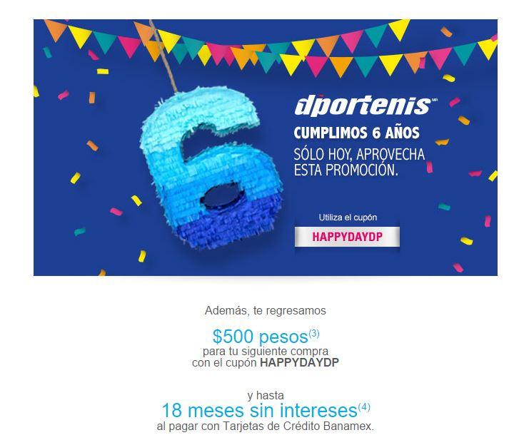 Deportenis.mx: 25% de descuento más cupon de 500 para siguiente compra.