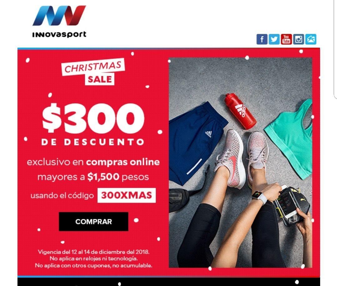 Innovasport: $300 pesos de descuento al comprar minino $1500
