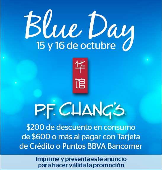 P.F. Chang's: $200 de descuento (mín $600) con Bancomer 15 y 16 de octubre