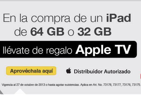OfficeMax: Apple TV gratis comprando iPad de 32 o 64GB