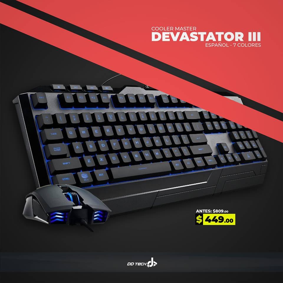 ddtech: Kit Teclado y Mouse Alambrico Cooler Master Devastator III