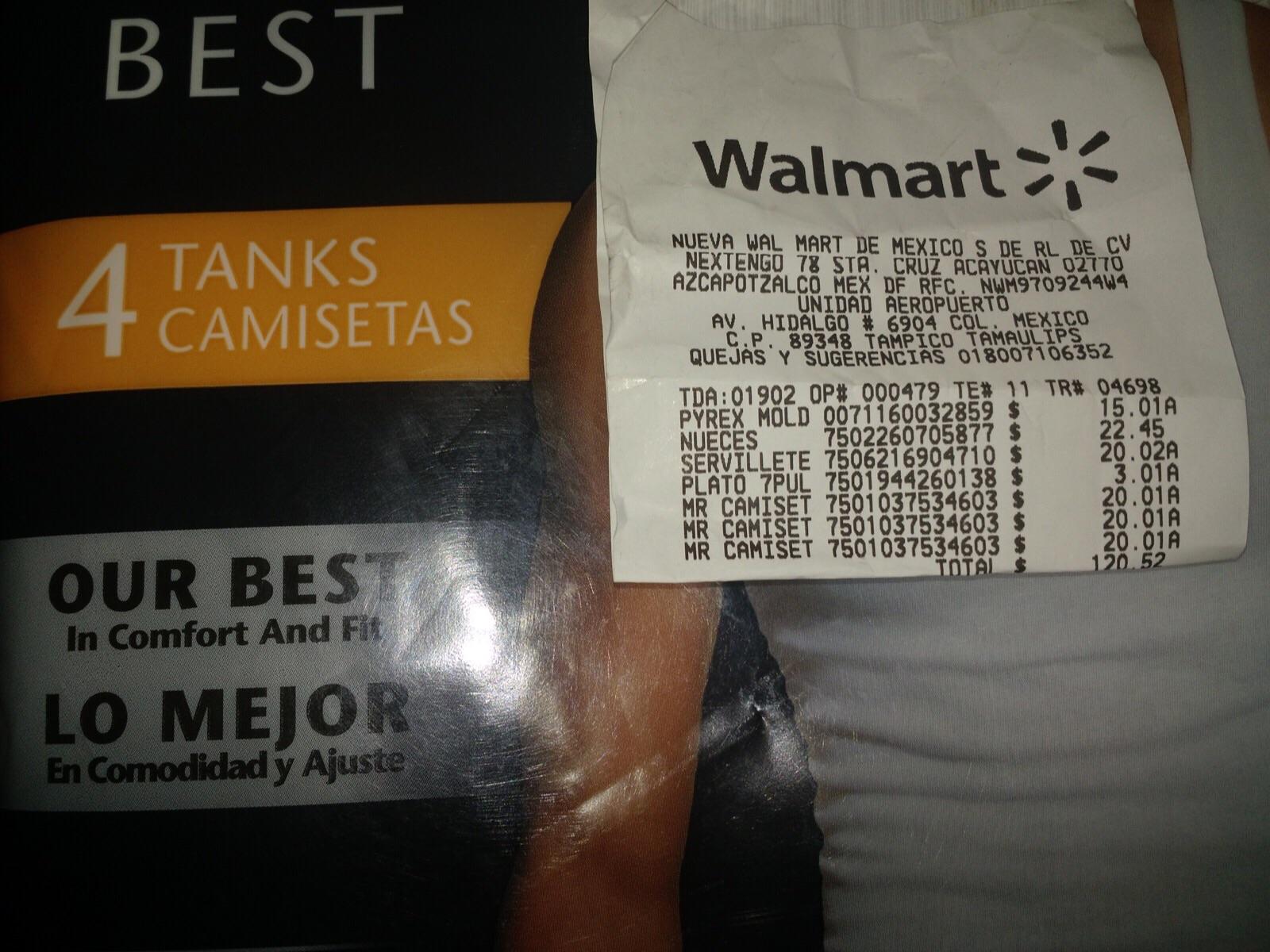 Walmart: Paquete de camisetas Hanes con 4 a $20.01