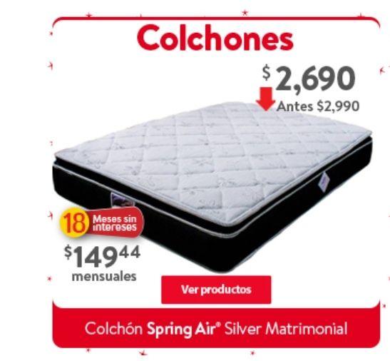 Walmart: Colchón Spring Air Silver Matrimonial