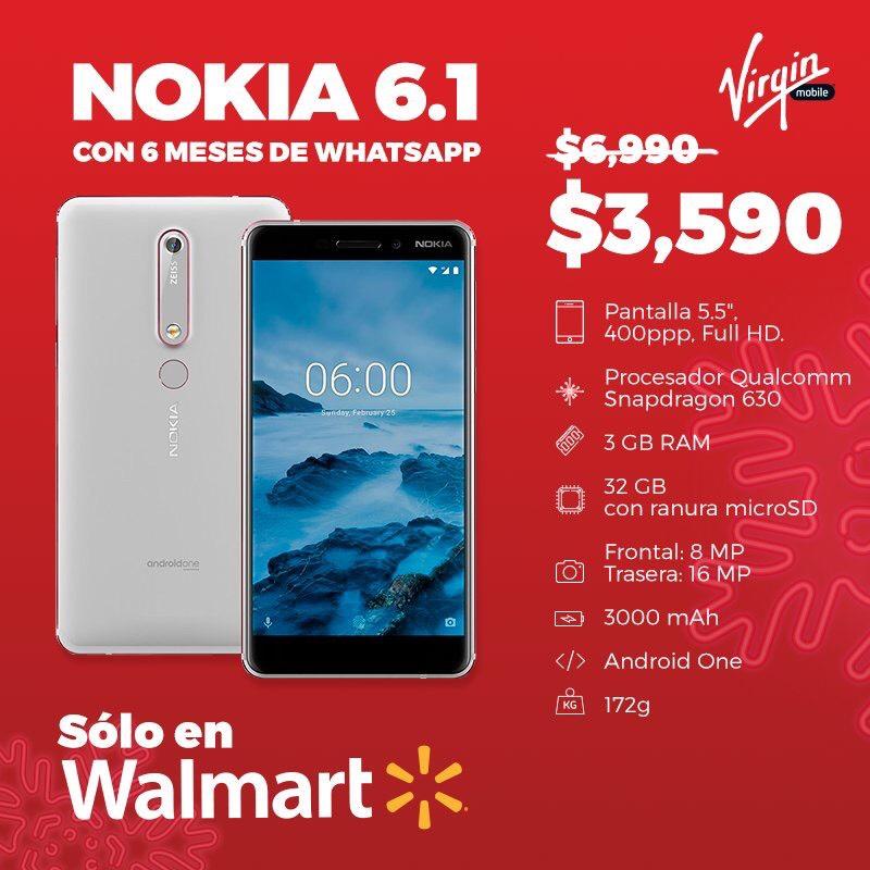 Walmart Nokia 6.1 con Virgin