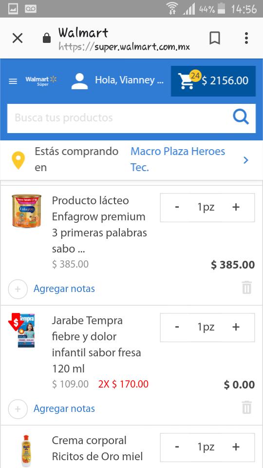 Walmart en línea: Gratis TEMPRA al comprar Producto lacteo