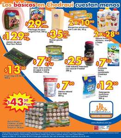Frutas y verduras en Chedraui octubre 22 y 23: pera $15.90 el kilo y más