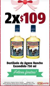 Oxxo. 2 rancho escondido de 750ml  x 109