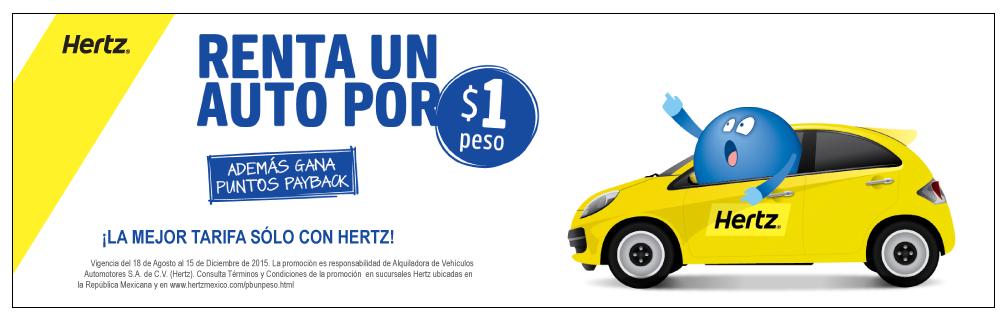 Renta un auto por 1$ en Hertz