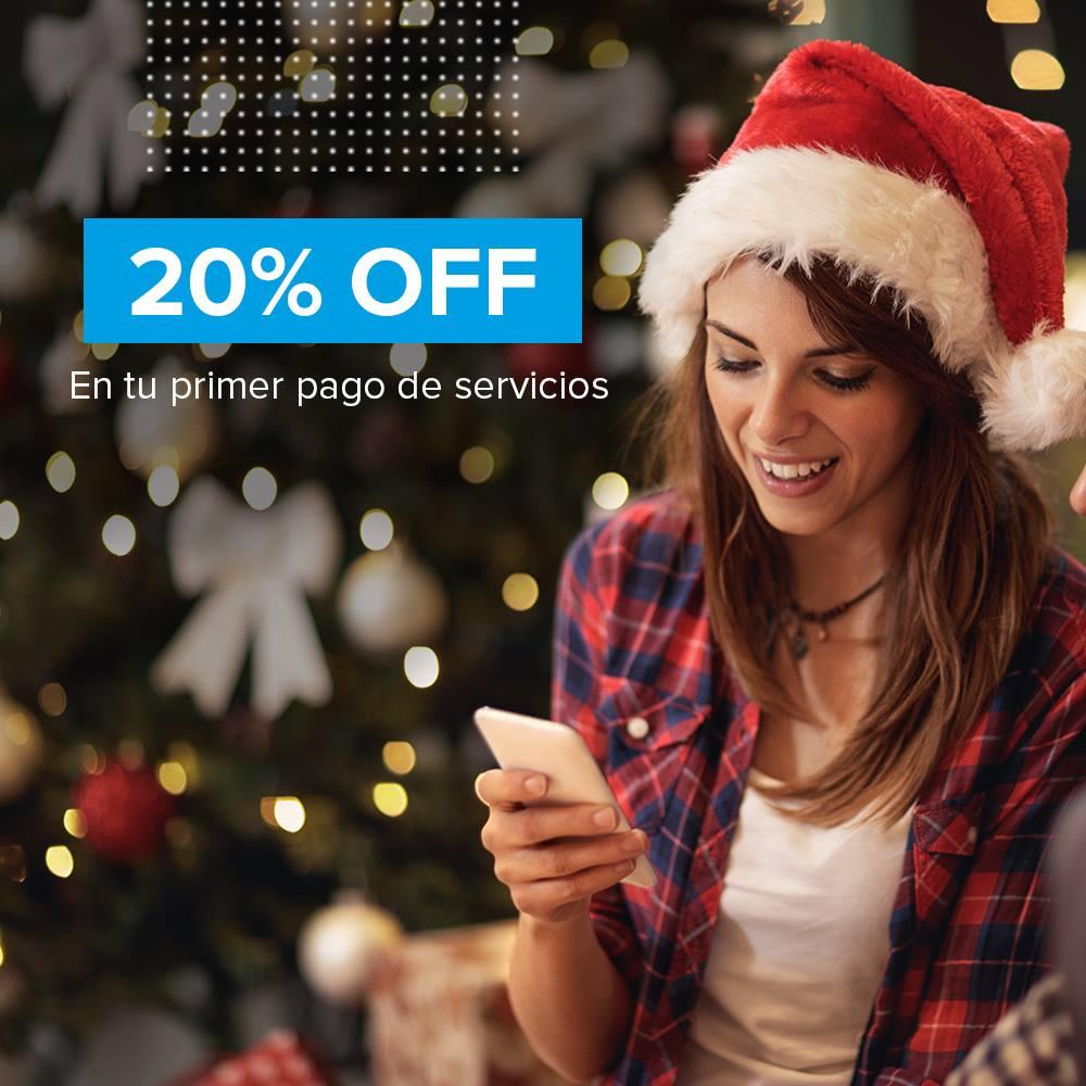 Mercado Pago: descuento del 20% en tu PRIMER pago de servicios topado a $80 (17 y 18 de diciembre)