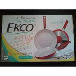 Walmart: 3 sartenes Ekco ceramica en 195.03