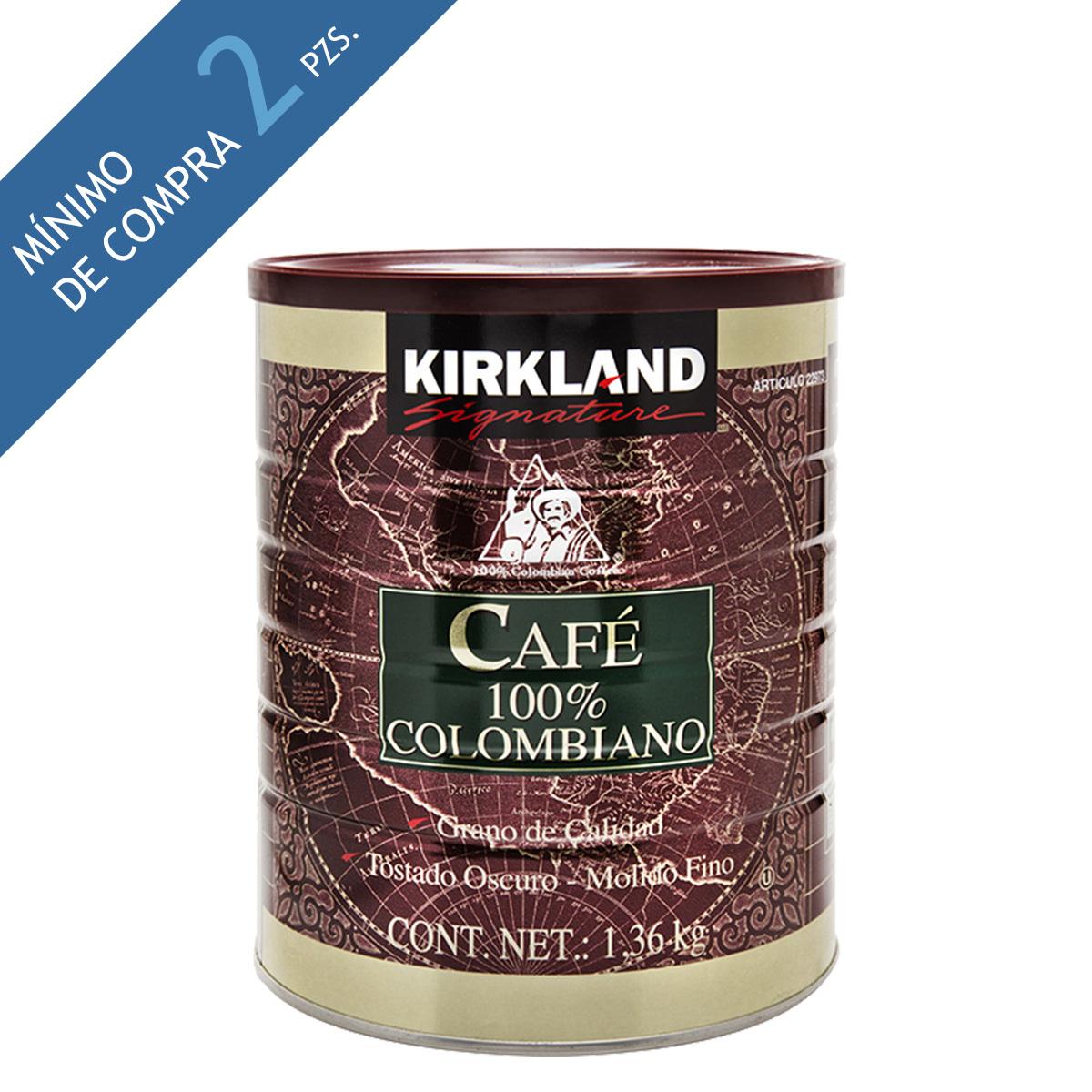 Costco: Kirkland Signature café molido 100% colombiano 1.36kg
