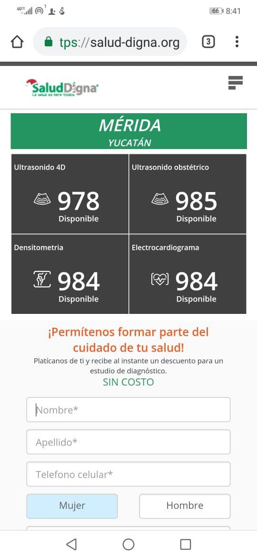Mérida clínica salud digna: estudios gratuitos por apertura