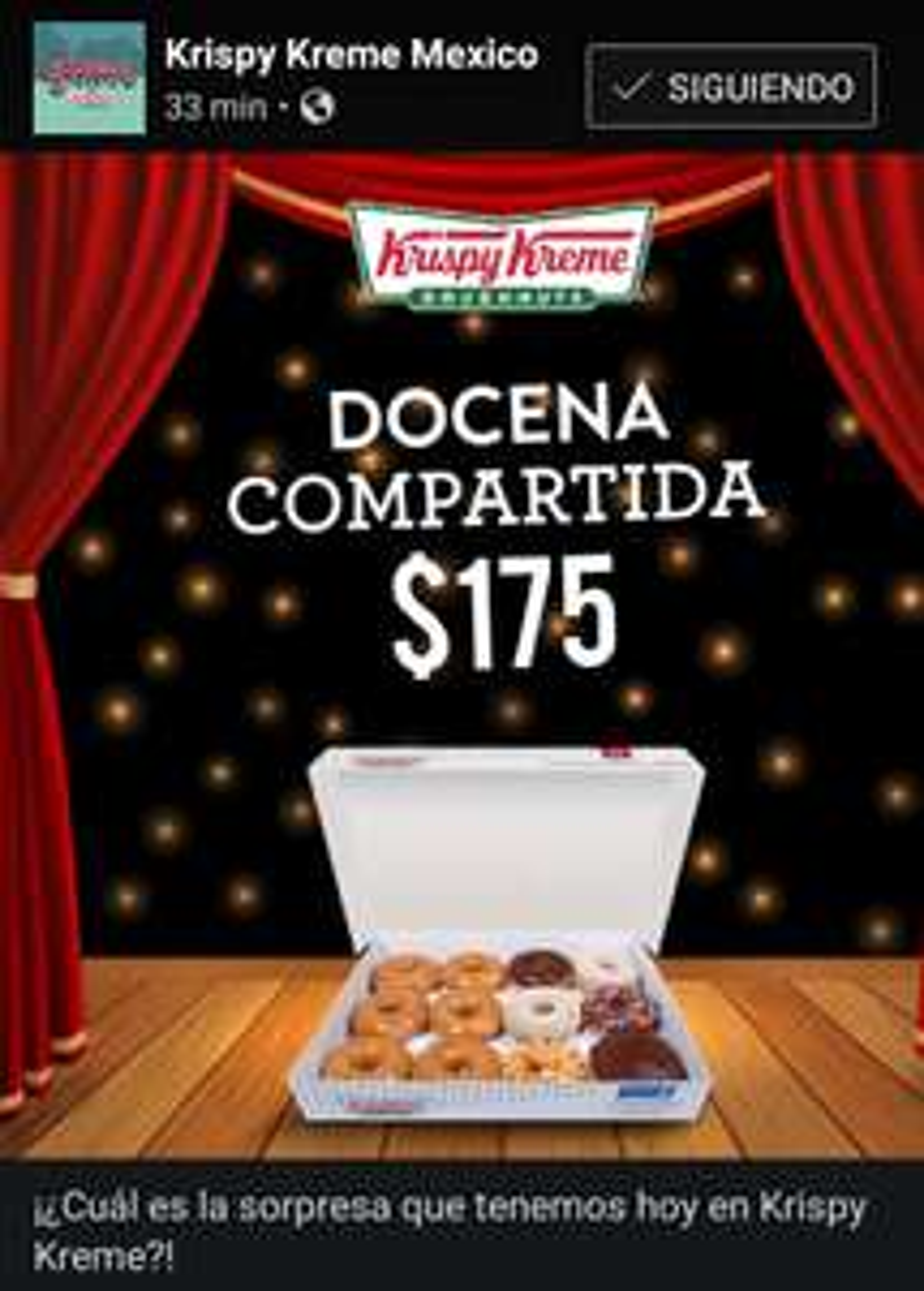 Krispy Kreme: Solo Hoy Docena Compartida