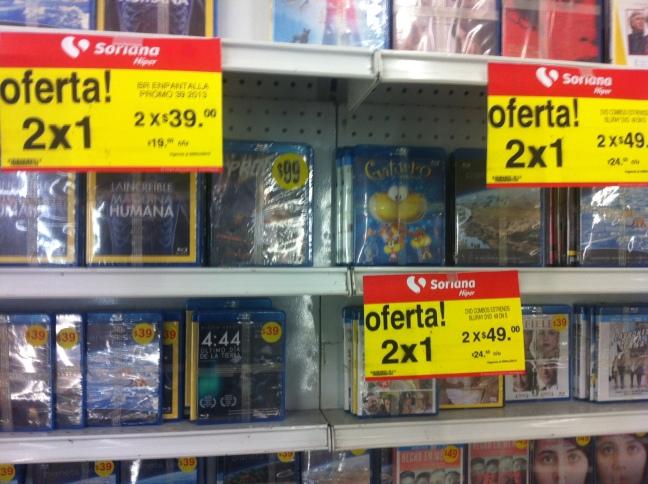 Soriana Hiper 2x1 en BluRays, DVDs y CDs de música + otras ofertas.