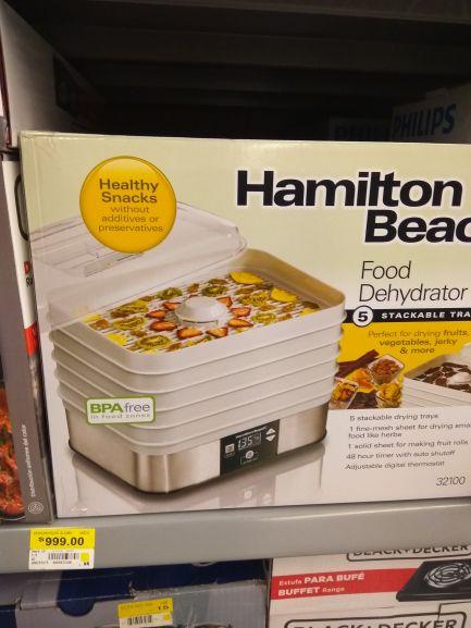 Walmart: deshidratador Hamilton Beach