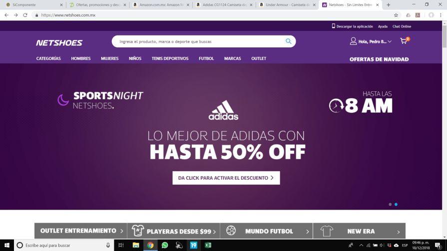 Netshoes: Hasta 50% de descuento en marca ADIDAS