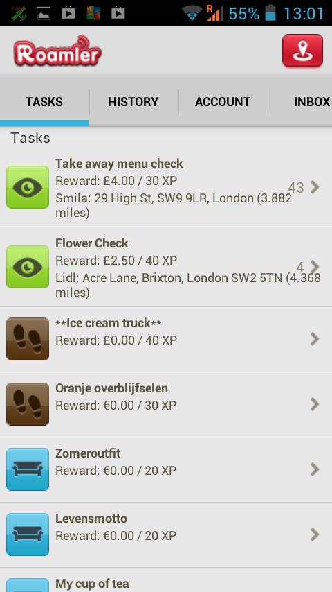 Roamler App: recibe $ por andar de Mistery Shopper