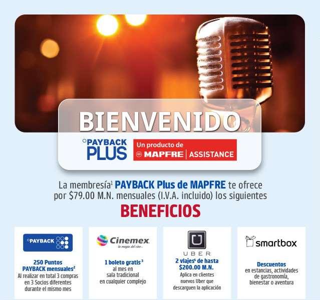 Payback Plus $79 al mes: boleto mensual para el cine, llamadas internacionales, servicio de plomería, electricidad, asistencia vial y más