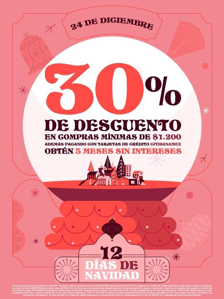 H&M Día 12: 30% de descuento en toda la tienda + 3 MSI con Citibanamex (24 de diciembre)