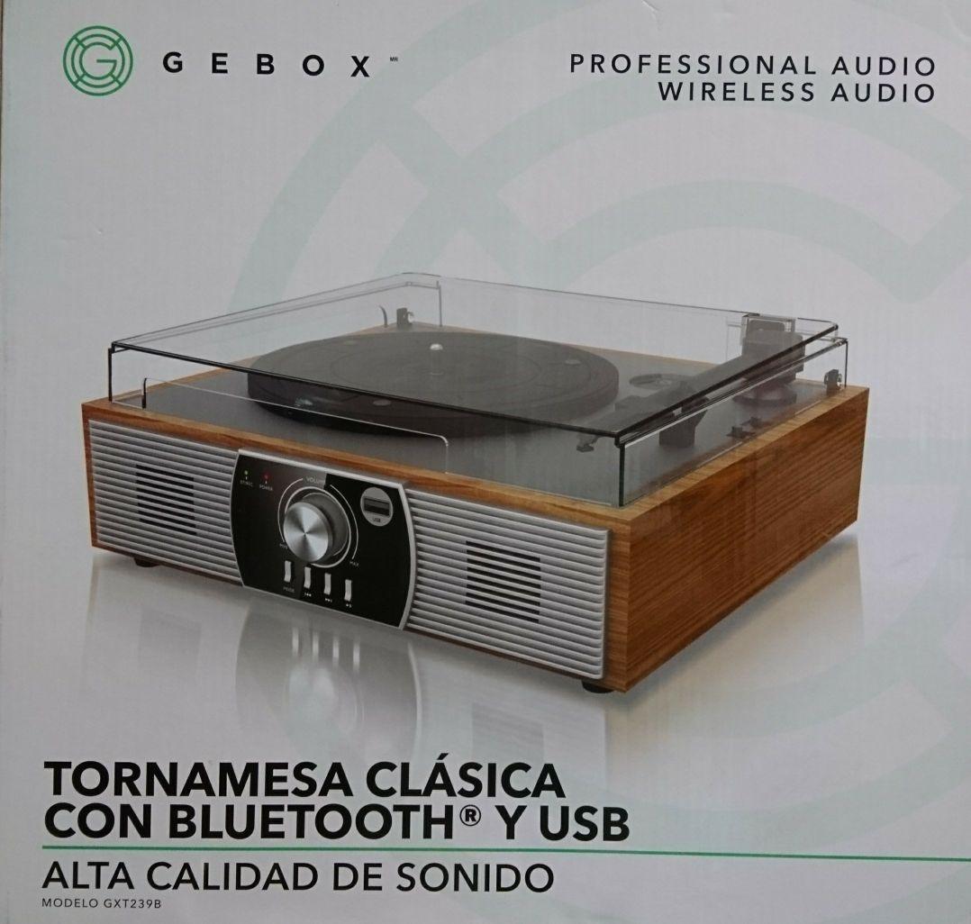 Bodega Aurrerá: Tornamesa GXT239B VINILO, USB y Bluetooth