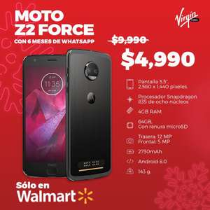 Walmart Moto z2 Force con Virgin