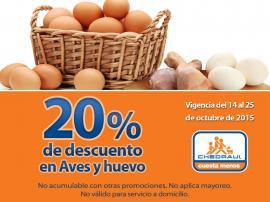 Nuevos cupones Chedraui: 20% de descuento en huevo, aves, pescados y mariscos