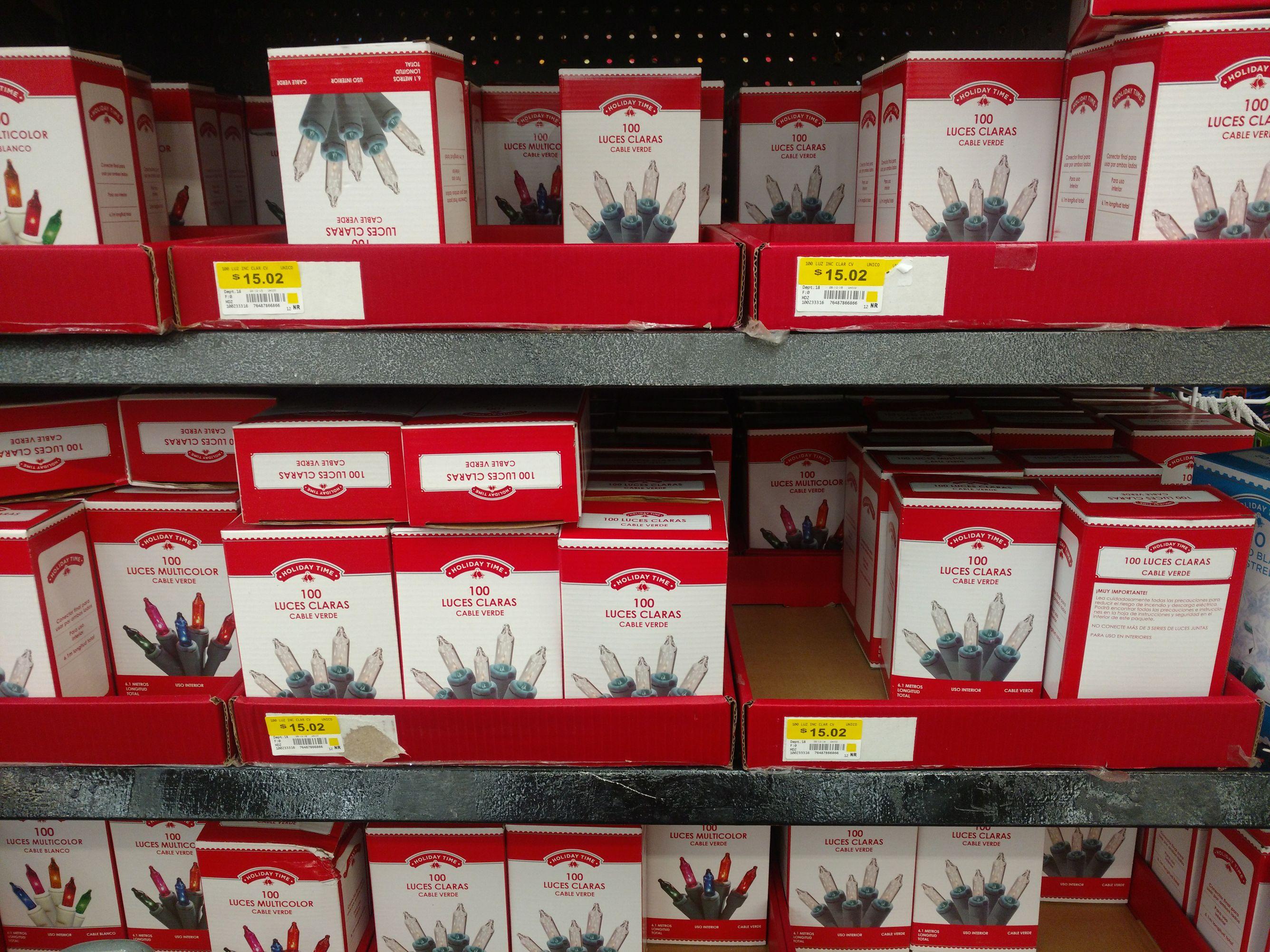 Walmart: Variedades de luces navideñas