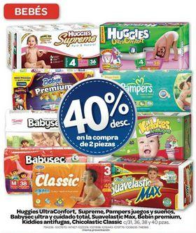 Farmacias Benavides: 40% de descuento en pañales (varias marcas)