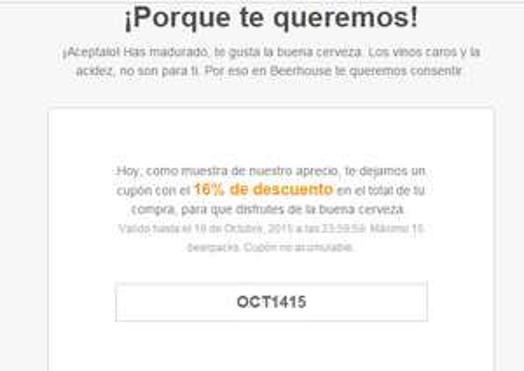 Beerhouse.mx, Cupón 16% de descuento en cualquier beerpack