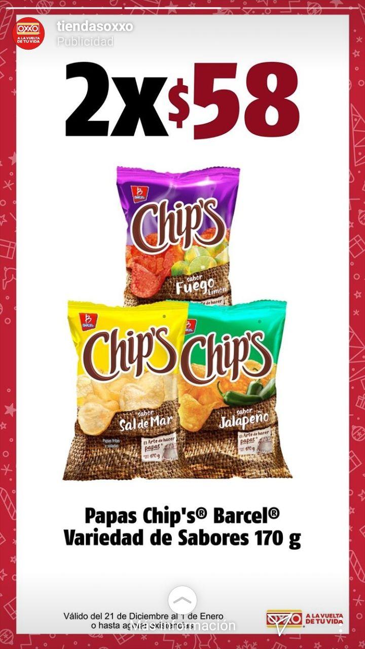 Oxxo: 2 Chips barcel 170g