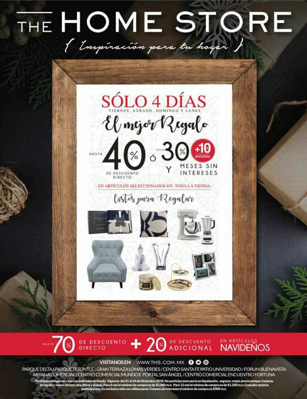 The Home Store: Hasta 40% de descuento directo... ó... hasta 30% + 10% adicional y MSI