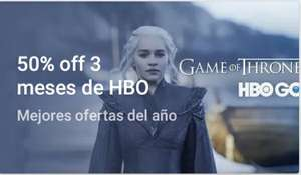 3 meses de HBO GO al 50%
