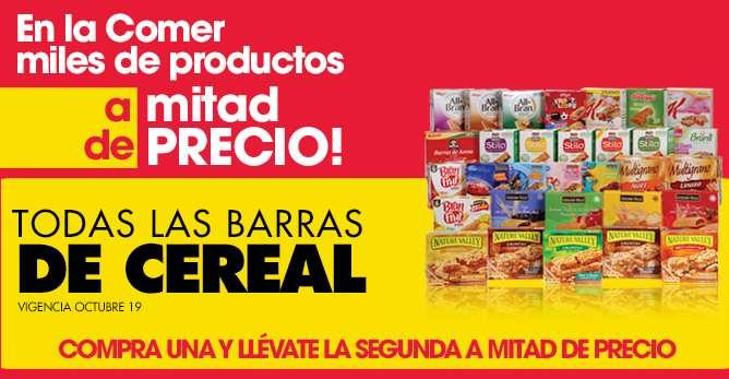 La Comer: 2x1 y medio en barras de cereal, cremas corporales, jugos Jumex y más