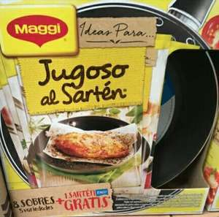 Walmart: Maggi jugoso al sartén (8 sobres sazonadores y un sartén de regalo)