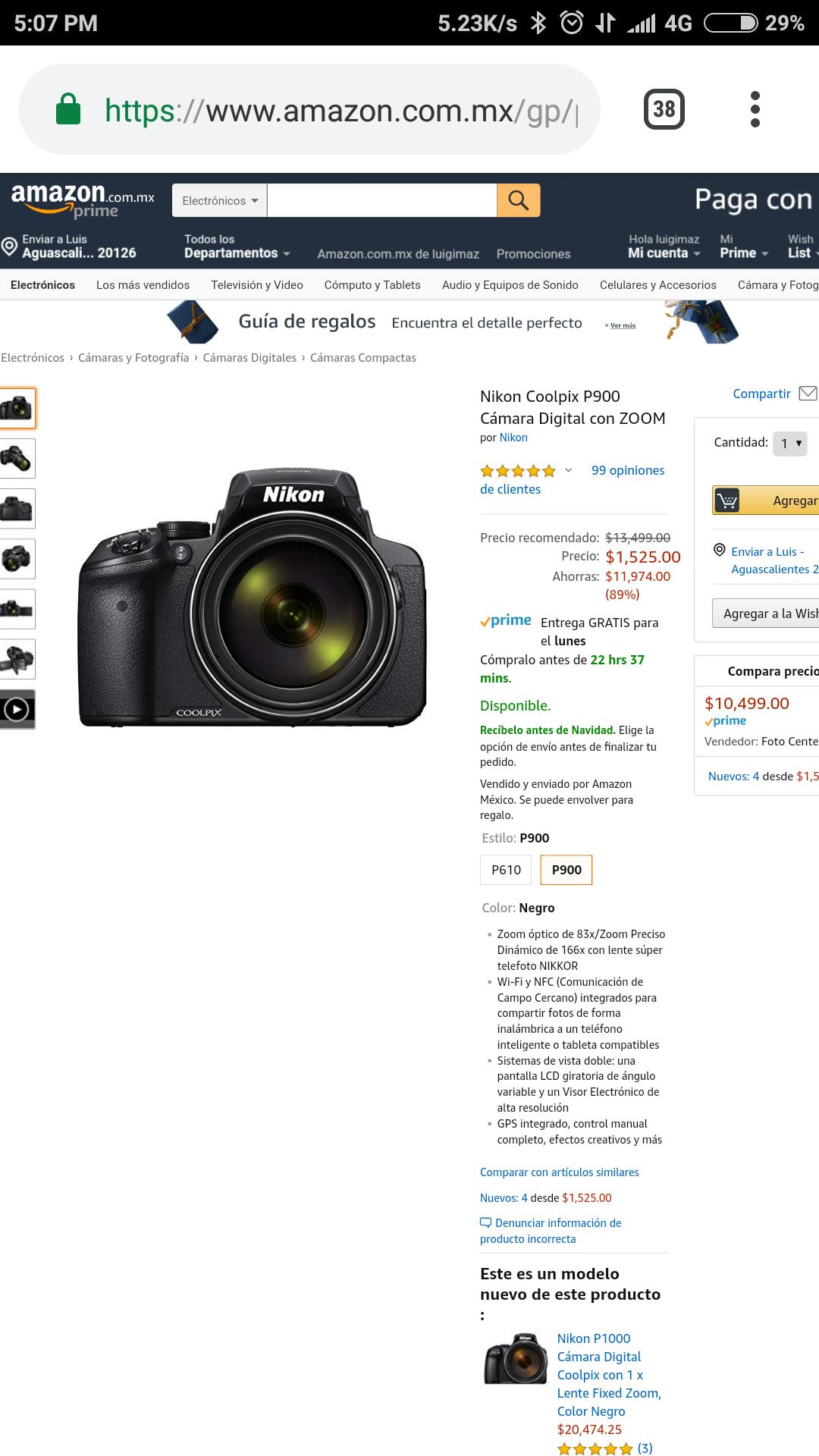 Amazon: Nikon P900