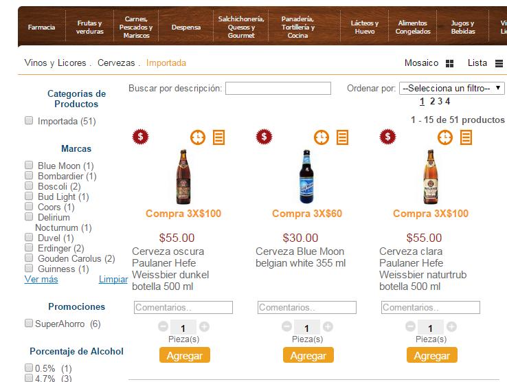 Superama: 3 cervezas Paulaner por 100 morlacos
