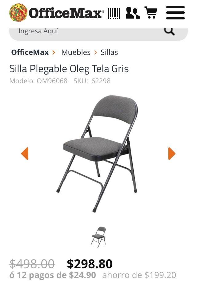 Office Max: 40% en varias sillas y escritorios