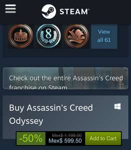 Steam: Assassin's Creed Odyssey