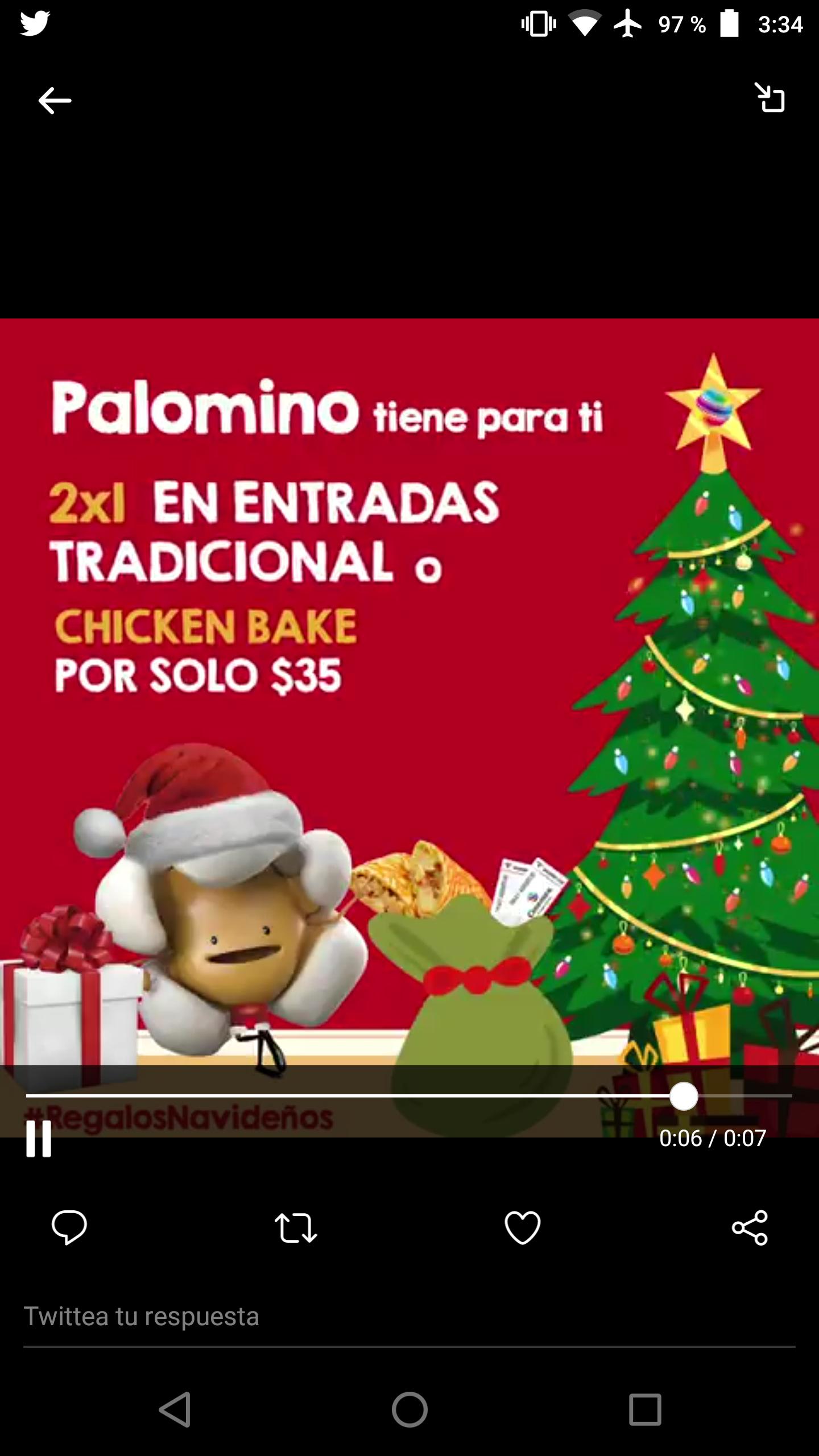 Cinemex Regalo Navideño día 3: 2x1 en entrada tradicional o Chicken Bake a $35