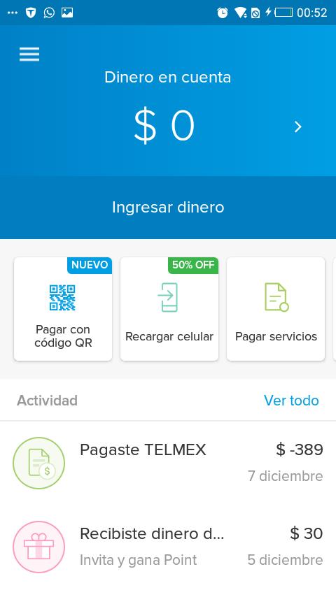 Mercado Pago: 50%/30% desc en recargas