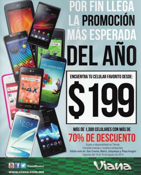 Viana: más de 70% de descuento en selección de celulares (en 4 tiendas del DF)