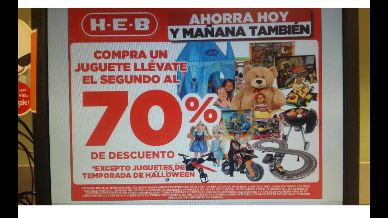 Heb 2do juguete 70% de desc 16-19 de oct