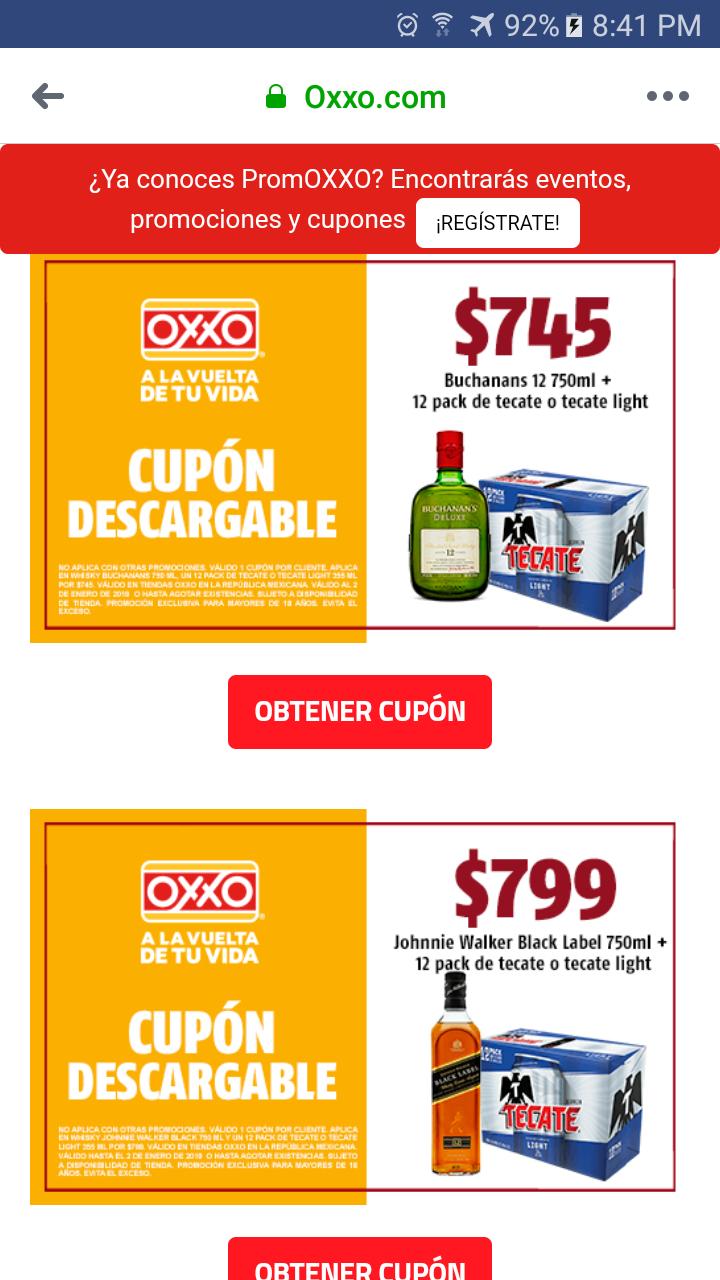 Oxxo: Compra Buchanan's 12 o black label gratis un 12 pack con cupón