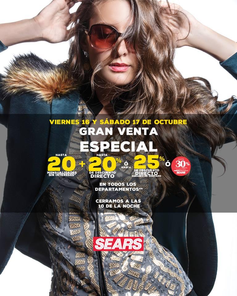 Gran Venta Especial Sears 16 y 17 de Octubre